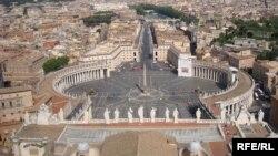 Вид на площадь Святого Петра в Ватикане