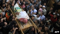 مراسم تشییع جنازه احمد الجعبری، فرمانده شاخه نظامی حماس، روز پنجشنبه در نوار غزه برگزار شد