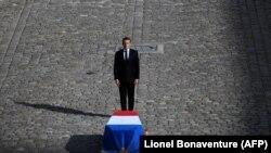 Емманюель Макрон на церемонії прощання з Жаком Шираком, Париж, Франція, 30 вересня 2019 року