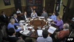 Udhëheqësit e G8 në Kamp Dejvid, SHBA, 19 maj, 2012