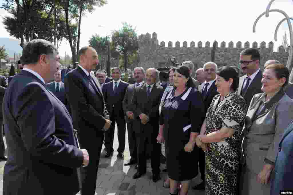 Even the few appearances where Aliyev engages with the public are carefully managed. In an August 14 visit, the president speaks to residents in Ismayili, the site of a violent police crackdown on opposition protesters in January.