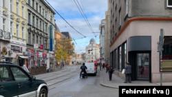 Bécsi utcakép a kijárási tilalom idején, 2020. november 17.