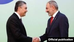 Հայաստանի վարչապետի և Թուրքմենստանի նախագահի հանդիպումը Աշգաբատում, 11-ը հոկտեմբերի, 2019թ.