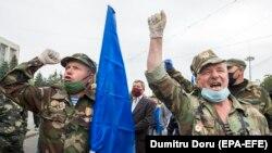 Protestul veteranilor, Chișinău, 17 mai 2020.