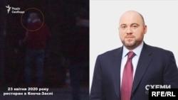 Журналісти помітили народного депутата Вадима Столара, який у супроводі охорони також попрямував на територію ресторану