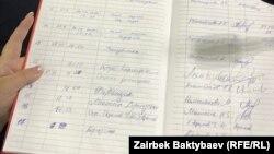 БШКнын партияларды каттаган журналы