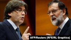 Marian Rajoy (djathtas) dhe Carles Puigdemont