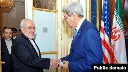 Ավստրիա - ԱՄՆ-ի պետքարտուղար Ջոն Քերրի և Իրանի արտգործնախարար Մոհամադ Ջավադ Զարիֆ, Վիեննա, 14-ը հուլիսի, 2014թ․