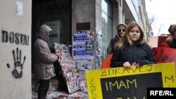 Na Međunarodni dan žena 2010. godine, foto: Midhat Poturović