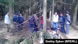 Народный сход в эколагере гражданского контроля в Цаговском лесу