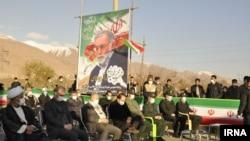 مراسم یادبود محسن فخریزاده که روز چهارشنبه در آبسرد دماوند، محل ترور این دانشمند هستهای جمهوری اسلامی، برگزار شد.
