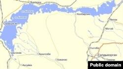 Город Талдыкорган на карте Алматинской области.