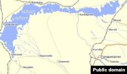 Карта водоемов Алматинской области.