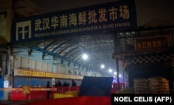 Закрытый оптовый рынок морепродуктов Хуанань. Ухань, 8 января 2020 года