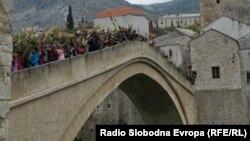 Obilježavanje 19. godišnjice rušenja Starog mosta, Mostar, 9. novembar 2012.