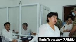 Адвокат Жанара Балгабаева на судебном заседании по делу предпринимателя Искандера Еримбетова.