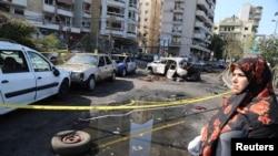 صورة من تفجير سابق في العاصمة اللبنانية - 22 حزيران 2014