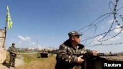 Украинская военная база в Бельбеке