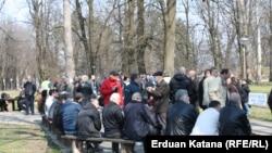 """Sa jednog od prethodnih protesta radnika """"Kosmosa"""""""