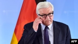 "German Foreign Minister Frank-Walter Steinmeier says the European Union's six founding states want Britain to begin leaving the union ""as soon as possible"" in order to keep the bloc from being stranded in political ""limbo."""