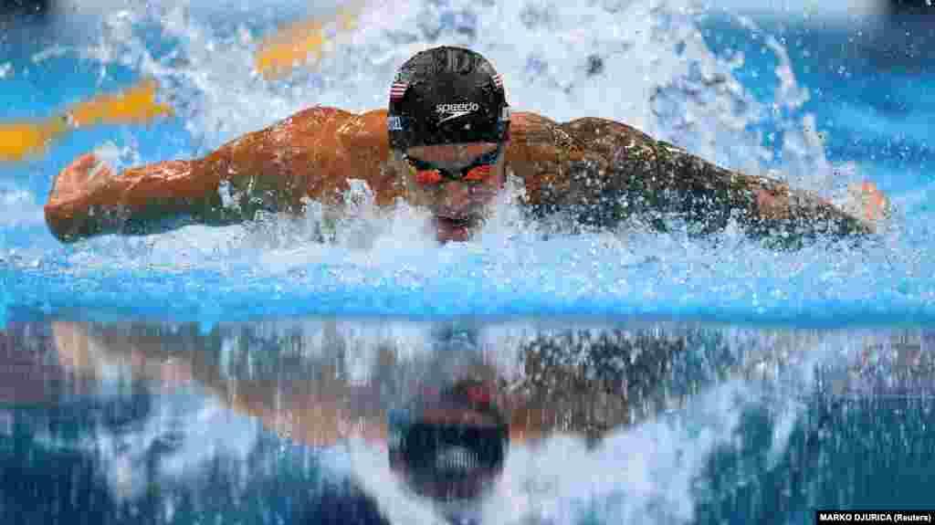 Калеб Дрессел із США під час чоловічого запливу на 100 м батерфляєм. Токіо, 31 липня 2021 року