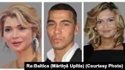 Солдон оңго карай: Гүлнара Каримова, анын жакын тууганы Акбар Абдуллаев жана сиңдиси Лола Каримова-Тилляева.