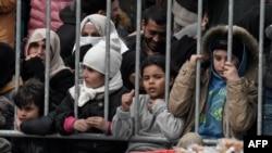 مهاجران تازهوارد به جزیره لسبوس در یونان