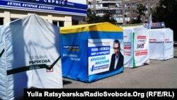 Передвиборчий Дніпро – ряди агітнаметів