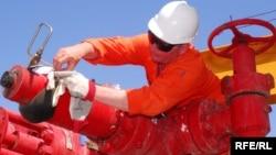Türkmenistandaky bir işçi