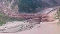 Landslide Sweeps Through Tajik Valley