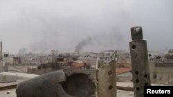 Пригороды Дамаска, Сирия, январь 2012 года.