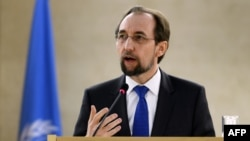 United Nations High Commissioner for Human Rights Zeid Ra'ad al-Hussein (file photo)