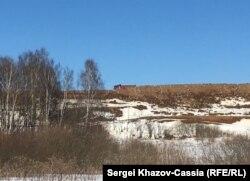 Алексинский карьер со стороны деревни Золино