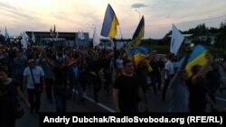Міхеїл Саакашвілі разом із своїми прихильниками заходять на територію України