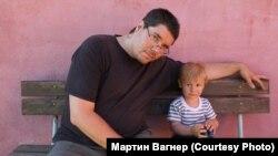 С сыном - Вацлавом