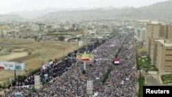 Пратэсты ў сталіцы Емэну Сане, 6 траўня, 2011