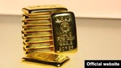Улуттук банк чыгарган алтын куймалары.