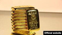 Золотые слитки, реализуемые Нацбанком КР.