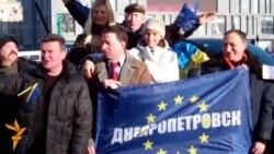 У Дніпропетровську пікетували державне телебачення