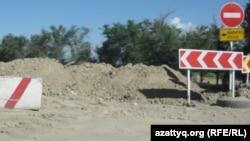 Батыс Қытай - Батыс Еуропа күре жолының құрылыс жүріп жатқан бөлігі.