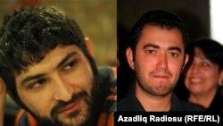 Арестованные активисты NIDA Узеир Мамедли (слева) и Рашадат Ахундов (справа).