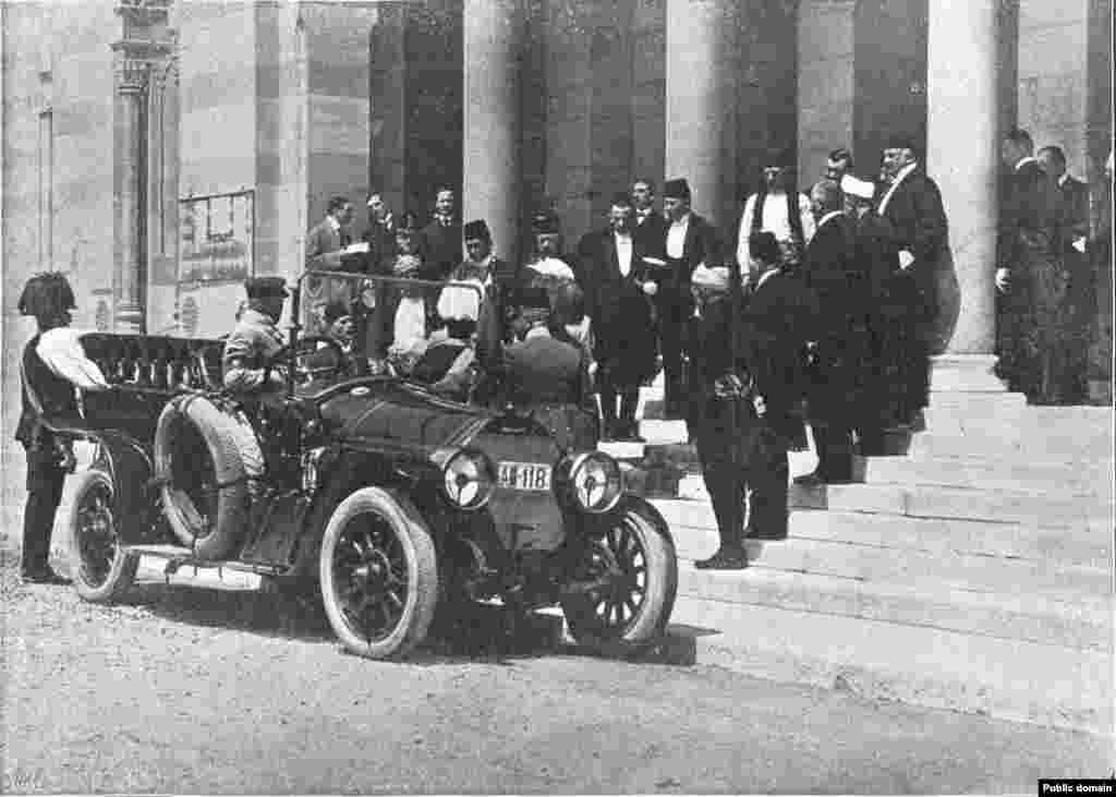 Franz Ferdinand escaped unhurt from a first assassination attempt on June 28, 1914 when an assassin threw a grenade at his car. Others were injured and the archduke insisted on visiting them at a hospital. His car stalled on the way. Another assassin who happened to be nearby shot and killed the royal couple.