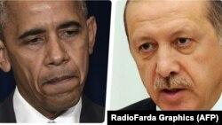 АҚШ президенті Барак Обама және Түркия президенті Режеп Ердоған.