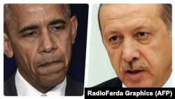 U.S. President Barak Obama (left) and his Turkish counterpart Recep Tayyip Erdogan (file photo)