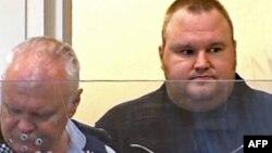 Kim Schmitz, alias Kim Dotcom în fața tribunalului în Noua Zeelandă