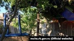 Повітряна куля у Феодосії впала у двір приватного будинку. 3 травня 2019 року