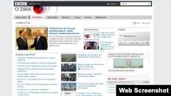 BBC - Uzbek service website screenshot