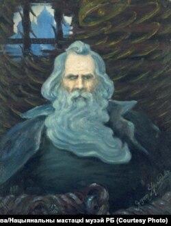 Я. Драздовіч. Усяслаў Полацкі сядзіць у порубе пад палатамі кіеўскага князя. 1923 год
