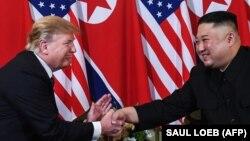 Дональд Трамп и Ким Чен Ын. Ханое, 27 февраля 2019 года.