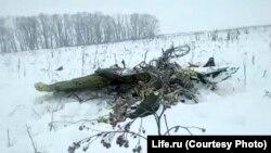 Обломок самолета Ан-148 у села Степановское, примерно в 40 км от аэропорта Домодедово, 11 февраля 2018